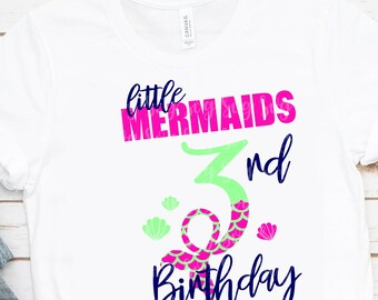 My 3rd Birthday Mermaid Svg, Eps, Png,Clipart, Cut File, Mermaid Birthday Svg, Mermaid Girl Svg, svg for Cricut, Mermaid Vibes, Birthday Svg