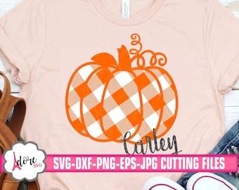 gingham plaid pumpkin svg, autumn svg, Fall SVG, gingham plaid svg, monogram pumpkin svg, Thanksgiving svg,svg for cricut,commercial use