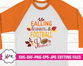 falling leaves svg, fall svg, leaves svg, football svg,svg for cricut,eps,digital download,cricut,adore svg,football mom, dxf,fall svg