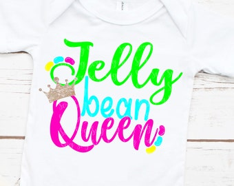 Jelly Bean Queen svg, dxf, png, eps, Files for Cutting Machines Cameo Cricut, Easter, Egg Hunt, Cute, Bunny, Funny, jelly bean svg