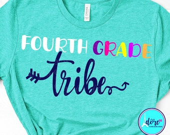 4th grade tribe svg,first day of school svg,school svg,my tribe svg,teacher,svg for cricut,beginning of year,4th grade svg,back to school