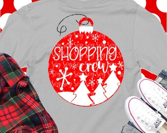 shopping crew svg,christmas crew svg, family christmas, mountains svg,christmas, rustic svg, svg for circut, eps, svg, DXF,digital download