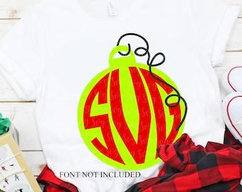 ornament monogram svg, christmas monogram svg,monogram svg, ornament monogram, christmas, svg,dxf, svg file,svg for Cricut,christmas svg