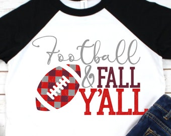 football and fall y'all, svg for cricut,football svg,fall svg,y'all svg, plaid svg,plaid football svg,fall plaid svg, svg,eps,dxf,print file