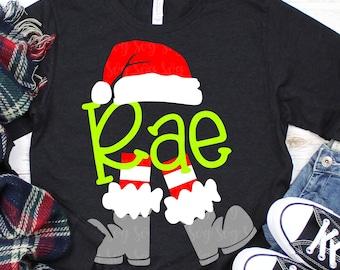 Santa leg monogram svg, Christmas svg, santa svg, monogram svg, svg,dxf,santa svg,svg santa boot, svg for cricut,christmas monogram