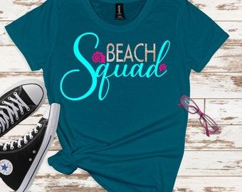 beach squad svg, beach svg, squad svg, vacation svg, tshirt, beach vacation svg, squad goals svg, svg for cricut, silhouette cut file