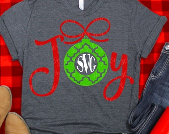joy monogram svg, christmas svg, merry christmas,ornament svg,christmas monogram svg,Christmas svg design,Christmas cut file, svg for cricut