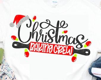 baking crew svg, Christmas Baking Crew svg, Christmas Iron on file, Christmas htv svg,svg for cricut,christmas lights svg,baking pin svg