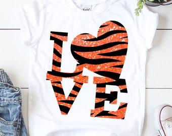 tiger love svg, love heart svg, i love you svg, valentine svg,eps,Files for Cutting Machines Cameo Cricut,svg for cricut,valentine day svg