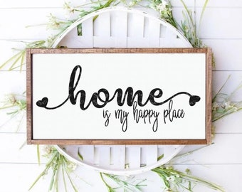 home is my happy place svg,home sign svg, welcome home svg,welcome home sign svg, farm home sign, svg for cricut, silhouette cut file