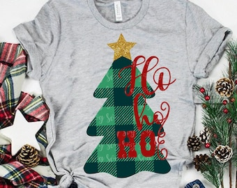 plaid christmas tree svg, christmas svg,plaid svg,Merry Christmas svg, tree svg,dxf,eps,ho ho ho svg,svg for cricut,christmas tree svg