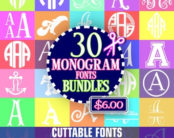 Bundle svg, Font Bundle, cricut bundle, svg font, font bundle svg, svg Monogram Font, svg Cricut Font, Monogram svg bundle, svg for cricut