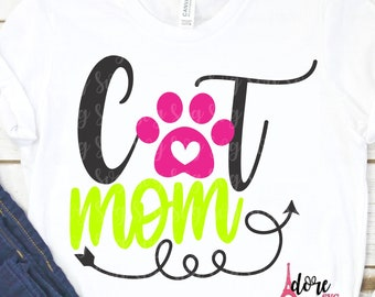 Cat Mom svg,Mother's Day,Kitten Mom day SVG,Happy Mothers Day SVG,Mom SVG,Tshirt svg,Cricut svg,Silhouette dxf,Gift for Mom,Moms day svg