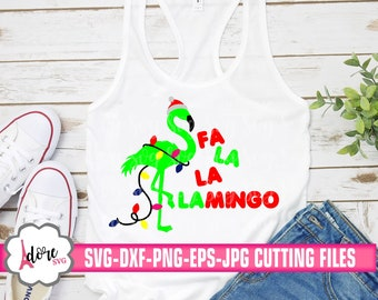 Fa la la mingo svg,Christmas flamingo svg,winter svg,holiday svg,svg flamingo,svg for cricut,tshirt,holiday cut file,cut file,svg bundle