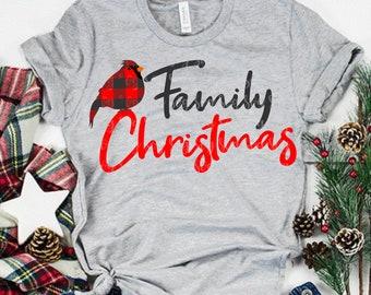 red bird svg,family christmas svg,matching shirt svg, cardinal svg, christmas svg,svg for cricut, eps, dxf,png, buffalo plaid svg,plaid svg