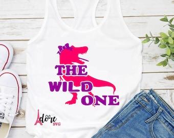 wild one svg,svg cut file,dinosaur svg,cute kids svg,little girls cut file,girls shirt svg,cameo,svg for cricut,kids svg,dinosaur design