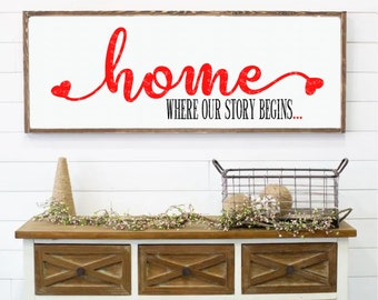 home where our story begins svg,home sign svg, welcome home svg,welcome home sign svg, farm home sign, svg for cricut, silhouette cut file