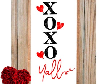 xoxo yall svg, xoxo svg, i love you svg, valentine svg,eps, Files for Cutting Machines Cameo Cricut,svg for cricut,valentines day svg