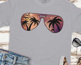 Palm Tree svg, Sunset svg, Aviator Sunglasses svg, Summer svg, png,dxf,Vacation svg, sunglasses svg,svg for cricut,beach clipart,beach svg