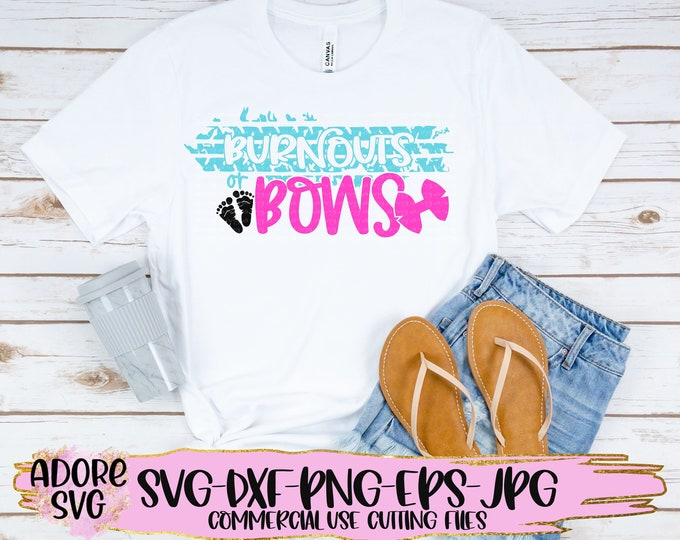 Featured listing image: Gender reveal svg, bows or burnouts svg, baby gender reveal svg, burnouts svg, bows svg, baby reveal svg, gender reveal Svg Design