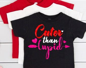 Valentine's Day SVG, Cuter than Cupid SVG, girlie valentine,baby svg,svg cut files, design, silhouette, svg for cricut,Valentine Tshirt svg