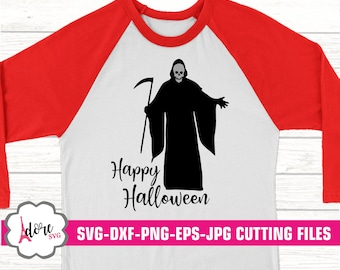 happy halloween svg,grim reaper svg,halloween svg,reaper svg,halloween svg,happy halloween,Digital Download,commercial use,svg for cricut