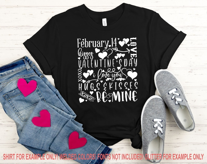 Featured listing image: Valentines Day Svg, Valentines Day Quote Svg, Hugs and Kisses, Svg, Valentines Day Tshirt, Be Mine Svg, Love Svg, Valentines Day Cricut