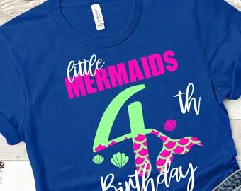 My 4th Birthday Mermaid Svg,Cut File, Mermaid Birthday Svg, Mermaid Girl Svg, Cuttable Svg Designs, Cuttable Cut File, cricut svg