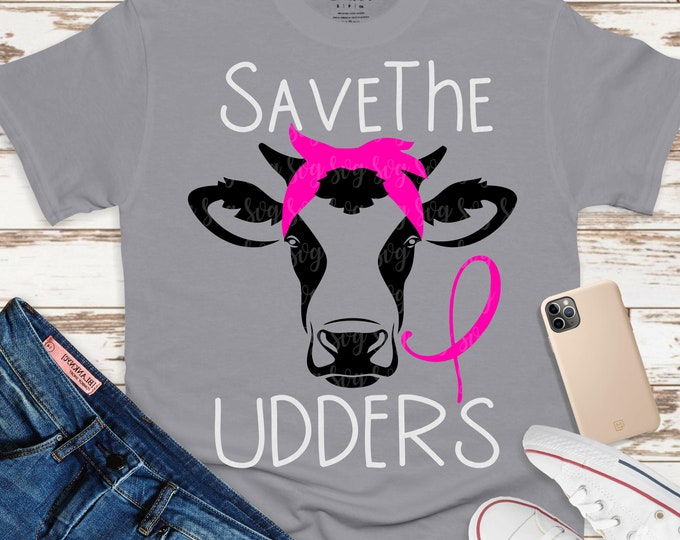 Featured listing image: breast cancer Svg, save the udders svg, save the boobs cancer svg, awareness svg, Awareness Svg Designs, breast cancer Svg Designs, cancer
