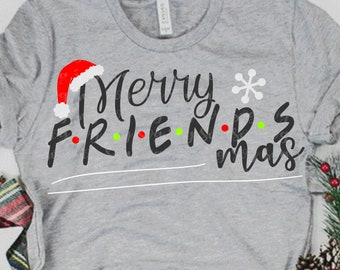 merry friendsmas SVG, friends svg,Santa Hat Svg, christmas friends Svg,Christmas svg,Christmas svg design,Christmas cut file, svg for cricut