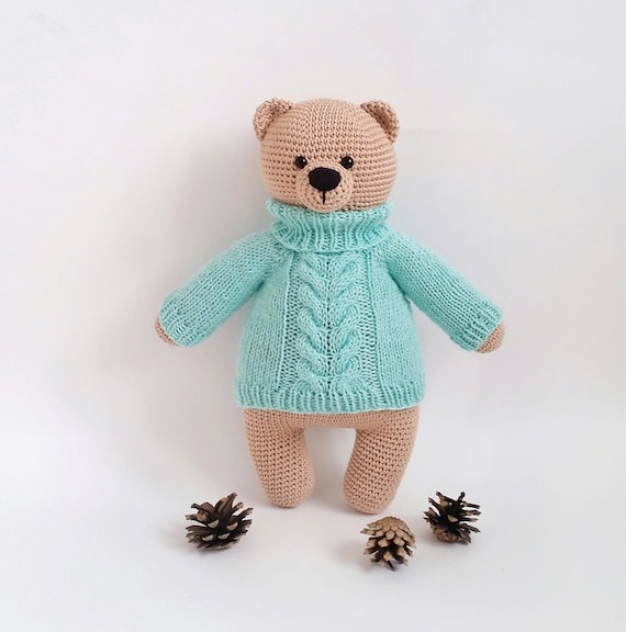 Amigurumi bear pattern - How to sew the Eyes of Amigurumi Teddy ... | 576x570