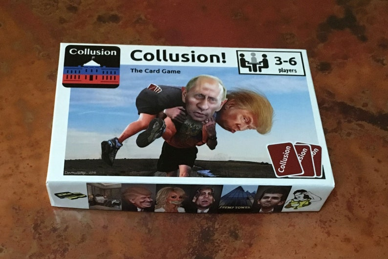 Collusion: The Card Game  Think Clue with Trump's Russia image 0