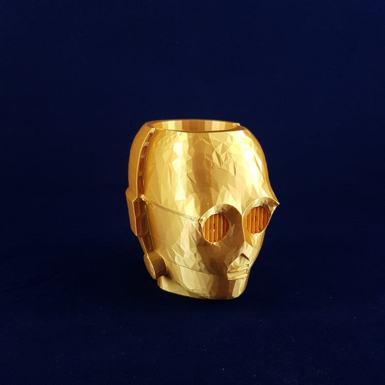Star Wars C-3PO Plant Pot Multiple Colors and Sizes Available