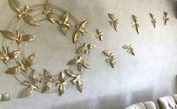 Extra Large Metal Wall Decor150x150cmoutdoor Wall Decor 3d Etsy