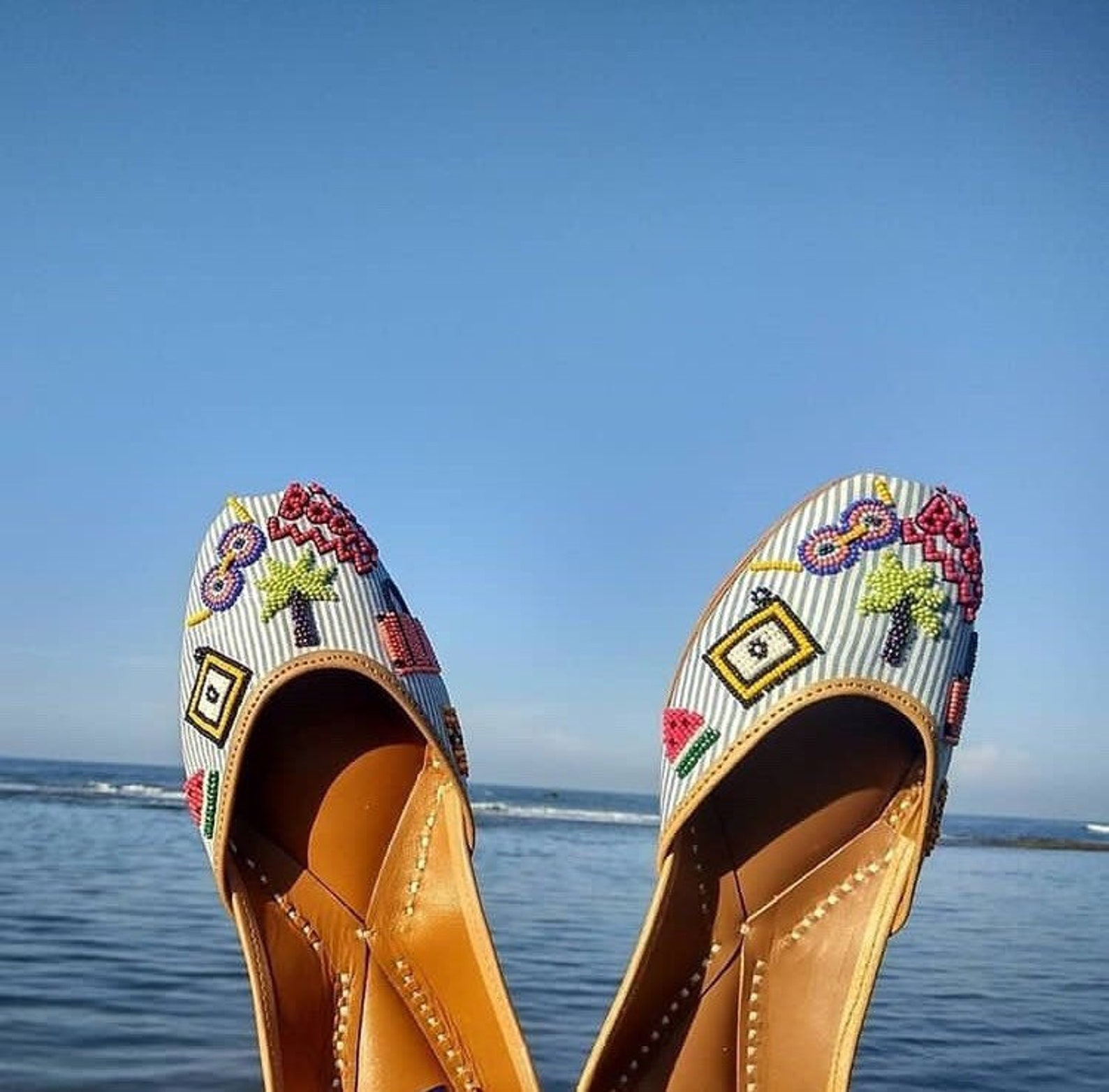 beads embroidered jutti | ballet | flats | mojaris