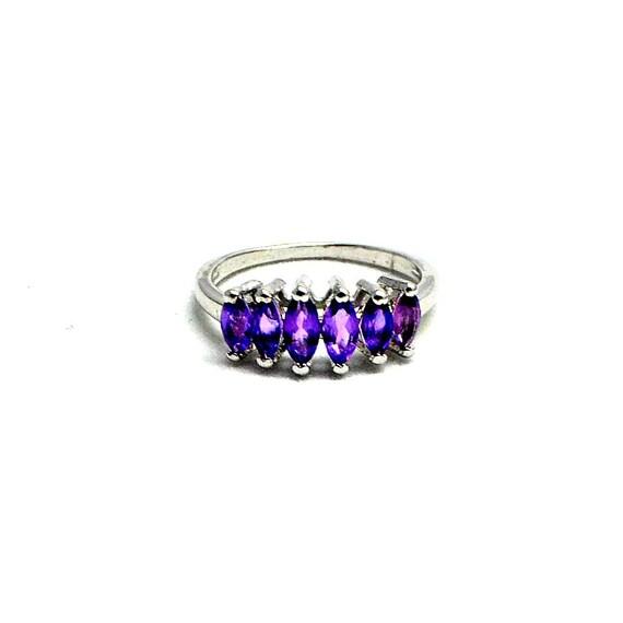 Amethyst Rings Sale 925 Sterling Silver Ring Raw Amethyst Silver Ring February Birthstone Ring Wholesale Amethyst Crystal Rings