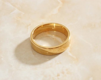 Gold Slim Band Simple Ring