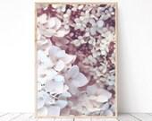 Pastel flower wall art Blush pink floral printable poster Bedroom wall art Pale pink flower print