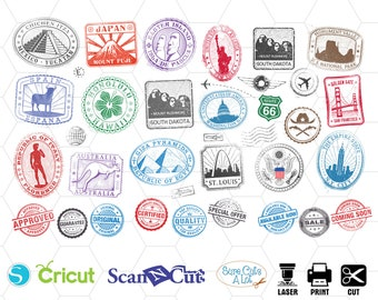 image about Printable Passport Stamps for Kids named Pport stamp Etsy