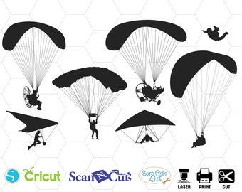 Skydiving svg skydiving cricut parachute svg svg for | Etsy