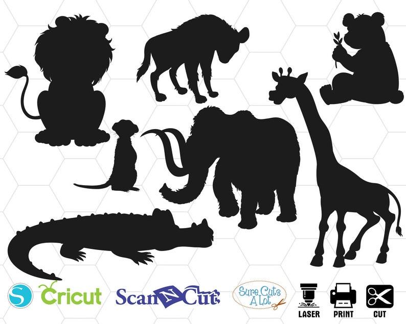 Animals Svg Elephant Svg Lion Svg Girafe Svg Cocodile Svg Etsy