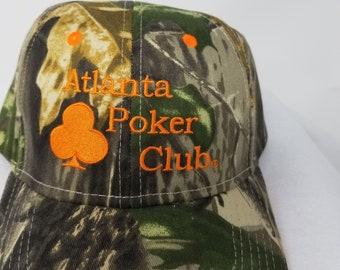 d642ca1a9a3 Atlanta Poker Club Camo Orange Baseball