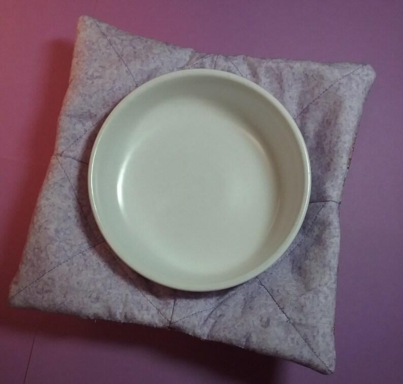 Lavender microwave bowl holder