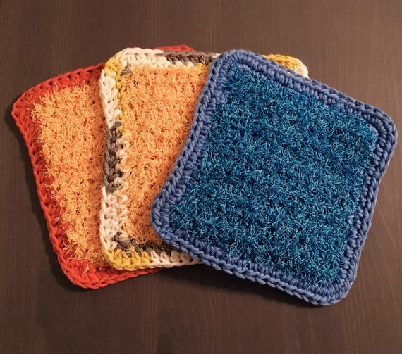 Crochet Scrubby Washcloths