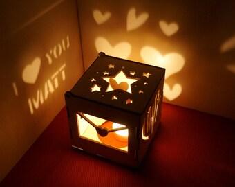 Boyfriend Anniversary Gift For Gifts Him Wooden Lantern Fiance Custom Birthday
