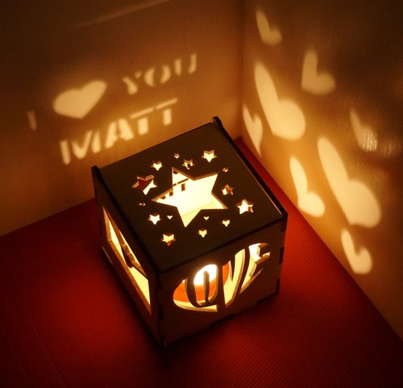 Romantic Love Gifts Him Personalized Candle Holder Birthday Etsy
