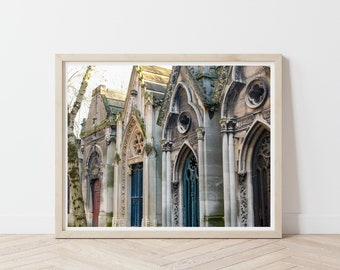 Pere Lachaise Cemetery / Paris France Photography Print / European Photography / Doors of Europe / Autumn Wall Art / France Wall Art