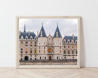 La Conciergerie / Parisian Architecture Art Print / European Buildings / France Travel Photography / Paris Building Facade / Castles Europe