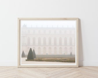 Versailles Gardens in the Fog / Versailles Photo Print / Gardens of Paris / Autumn in France / Paris France Photography / Autumn Wall Art