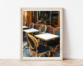 French Cafe Chairs Photo / Paris Sidewalk Cafe / French Cafe Art Print / Bistro Chairs / Paris Travel Print / Paris Photography Prints
